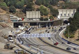 The state will use the funds for current projects like adding an extra bore to the Caldecott tunnel in Oakland, adding 16 miles of carpool lanes in the Central Valley and easing congestion on I-5 in Los Angeles.