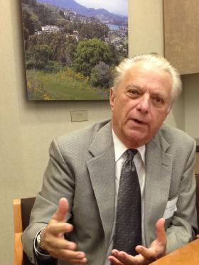 Dr. Vincent Felitti makes a point, during his interview with KRCB.