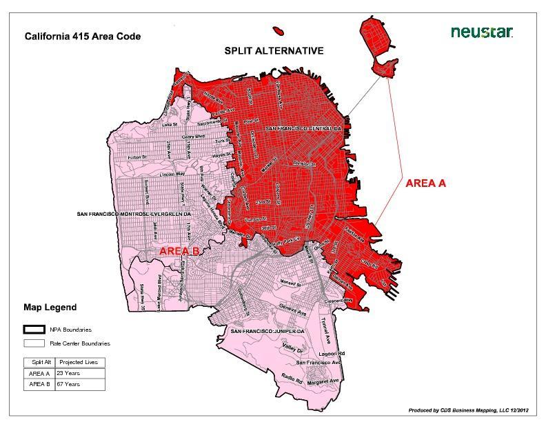 Splitting The Area Code KRCB - 415 area code