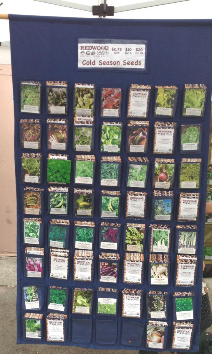 Hundred, possibly even thousands of varieties of seeds are displayed and sold at the Heirloom Expo