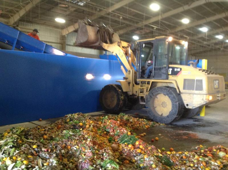 Food scraps are collected from local business.
