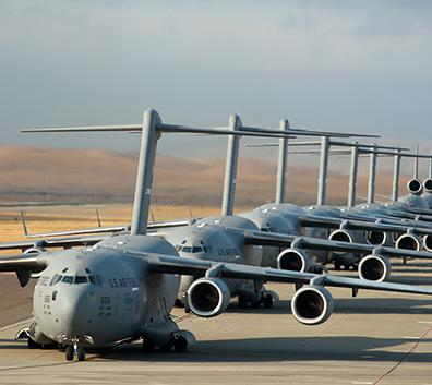 Planes at Travis Air Force Base