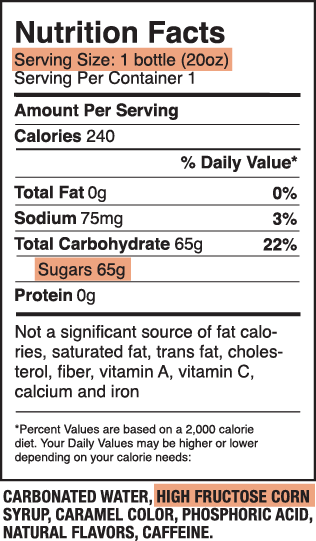 basic nutrition facts