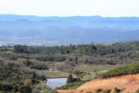 A view to the southwest, from Hien Nguyen's Pine Mountain Vineyard
