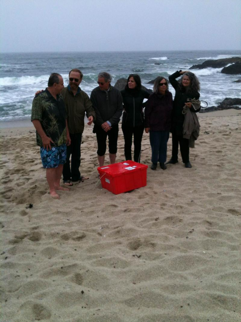 "A group of volunteers gathered Sunday morning on Bodega Head to inagurate a new sampling site for ""Our Radioactive Ocean."""