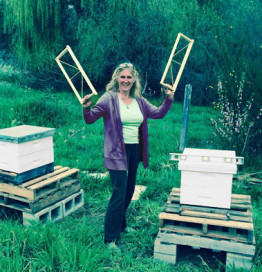 """Christine Kurtz's talk at the Heirloom Expo was titled """"The Issue of Honey Bees -- People Collapse vs Colony Collapse"""