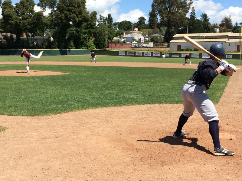 Each player got a chance to show off their batting and pitching skills.
