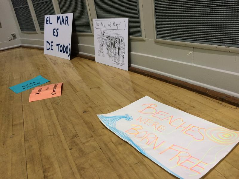 Many community members made handmade signs to show their disapproval.