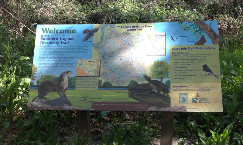 Colorful and informative signs installed along the new trail help visitors recognize and understand what they are seeing.