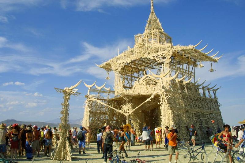 The first planned temple, at Burning Man in 2001. It's known as the Temple of Tears aka the Mausoleum.