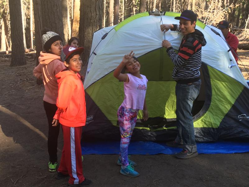 Camping in the high Sierra was a first-time experience for some of the Yosemite adventurers.
