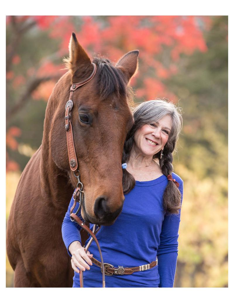 HALTER founder Julie Atwood with her equine pal, Uno.
