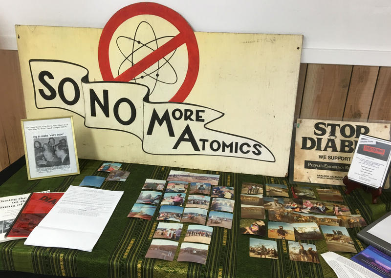 Signs, pictures, flyers and other artifacts from demonstrations decades ago were on display at the informal reunion of Ablabone Alliance activists in Bodega Bay last Saturday.