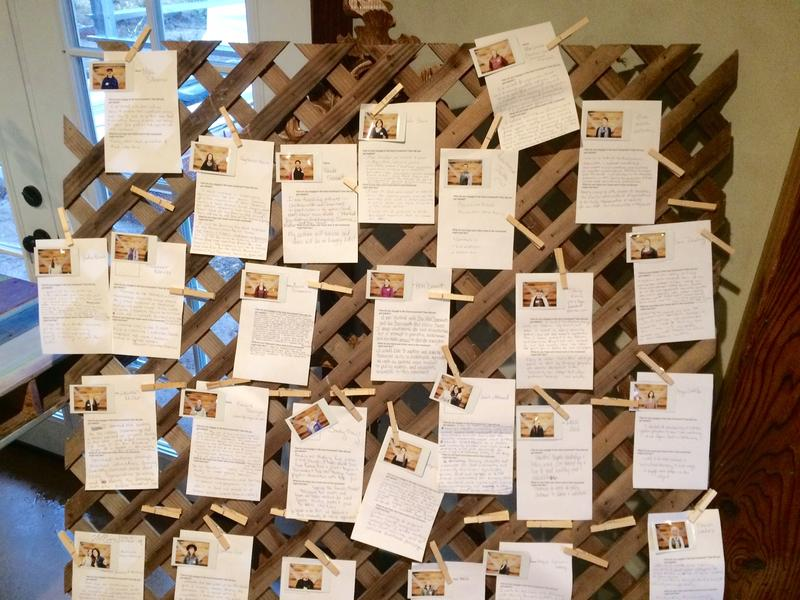 Attendees were invited to share their stories at the symposium with polaroids and bios about themselves.