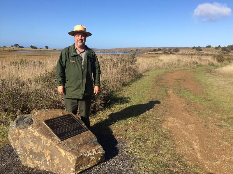 Point Reyes National Seashore spokesman John Dell'Osso stands by the new Drakes Bay landmark.