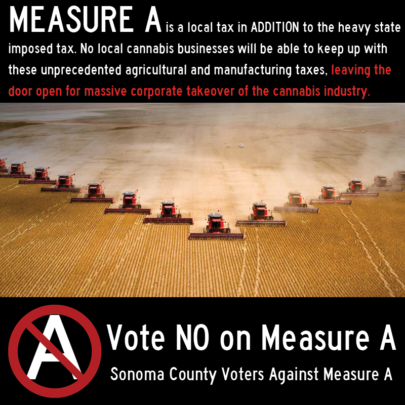 This is one of several fliers distributed by the opponents of Measure A. Each of them address a specific argument against the measure.