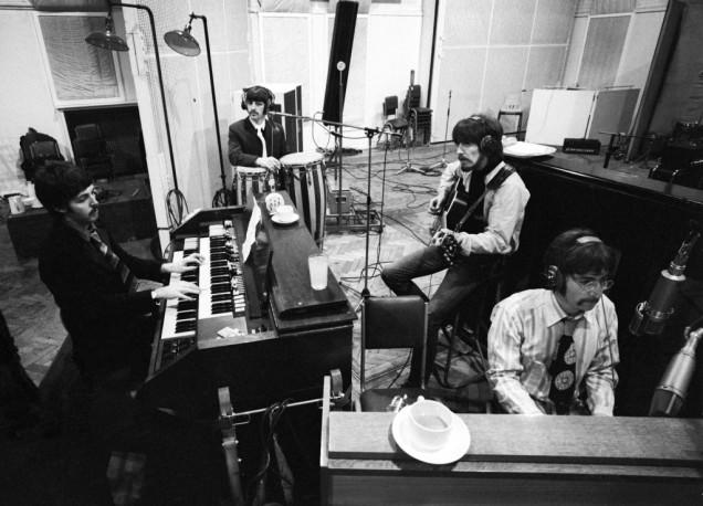 The Beatles, in the studio recording Sgt.Pepper's Lonley Hearts Club Band