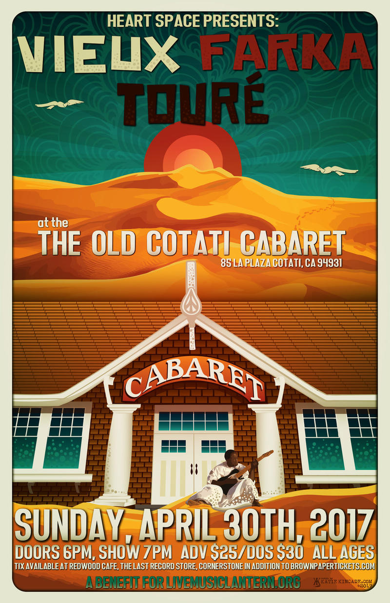 The poster for the new concert at the old Cabaret underscores the venerable building's history.