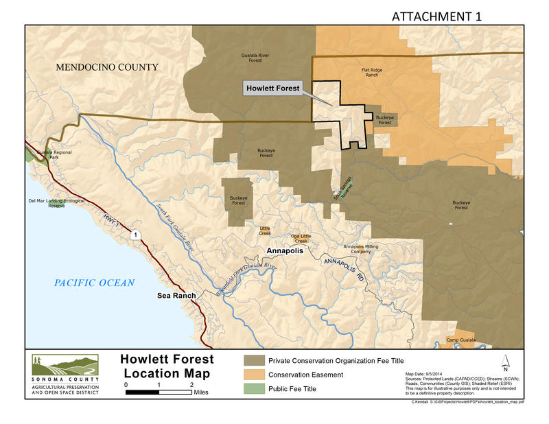 The Howlett Ranch contains a high concentration of tall, old-growth redwoods, and links other protected lands in Sonoma and Mendocino Counties.