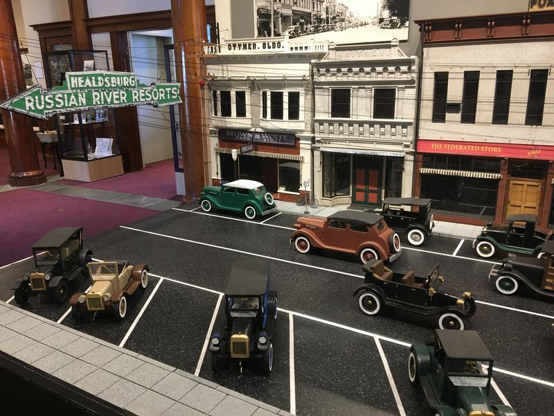 The scale model of downtown  Healdsburg circa 1933 is impressively detailed.