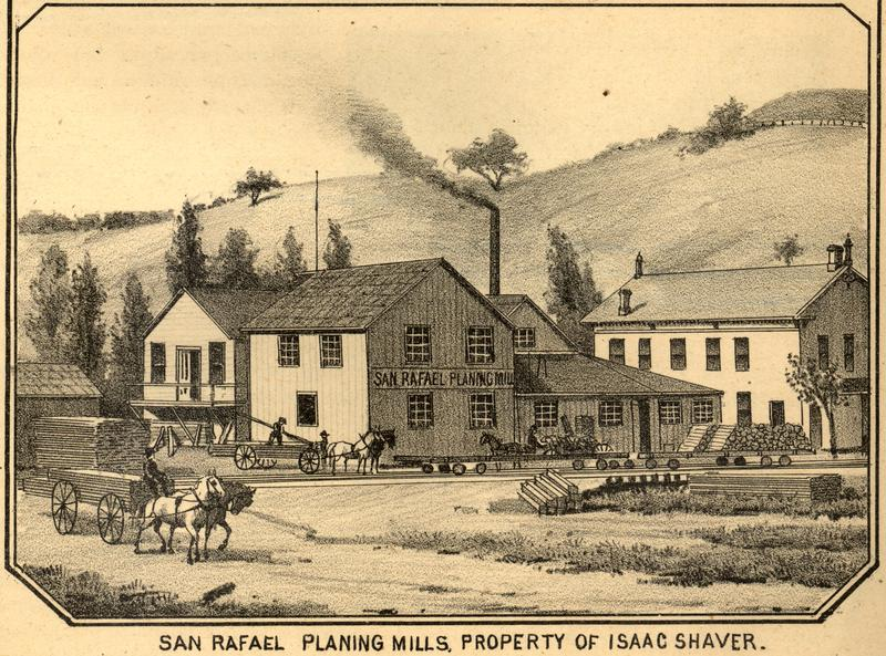 The Isaac Shaver Planing Mill was once a huge supplier of lumber.