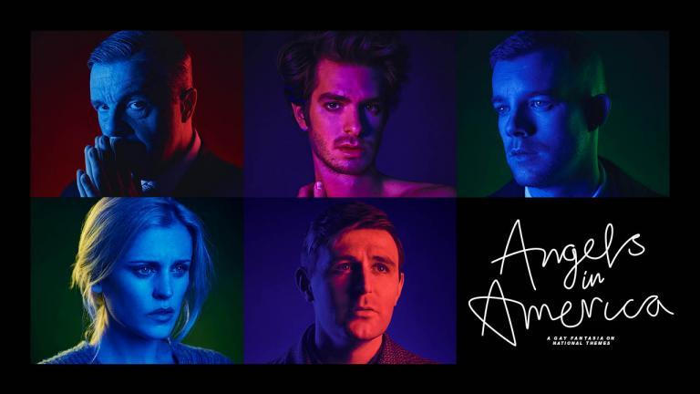 Poster with cast of Angels in America, National Theatre