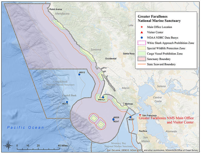 Greater Farallones Sanctuary Map