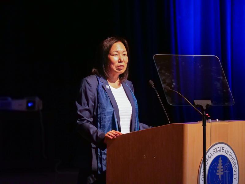 Judy Sakaki, president of Sonoma State University