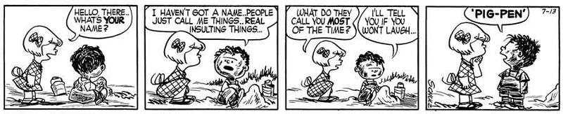 Pigpen Peanuts Strip