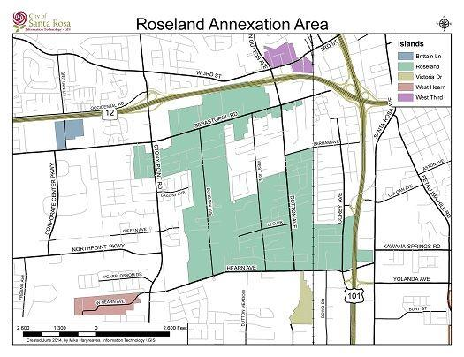 Map of Roseland Annexation
