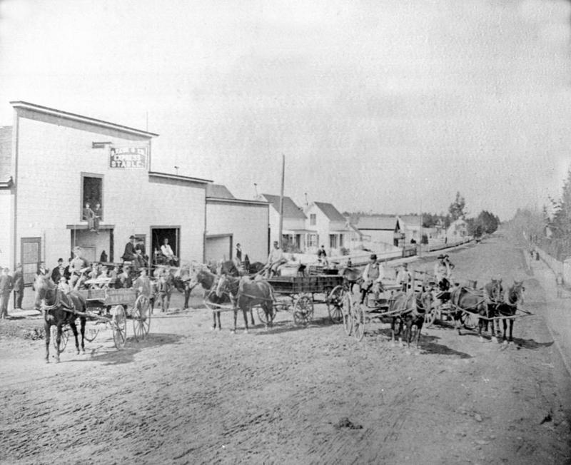 A Petaluma street view from the late 19th century.