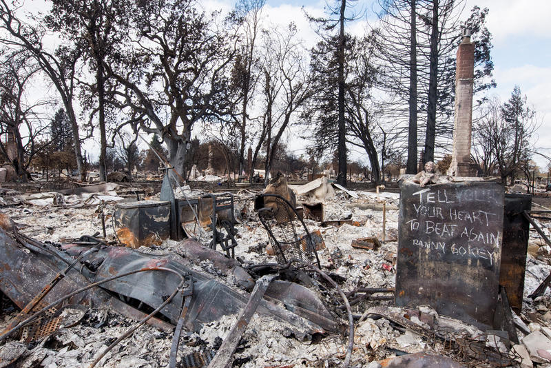 Sign with message of hope after Santa Rosa fires
