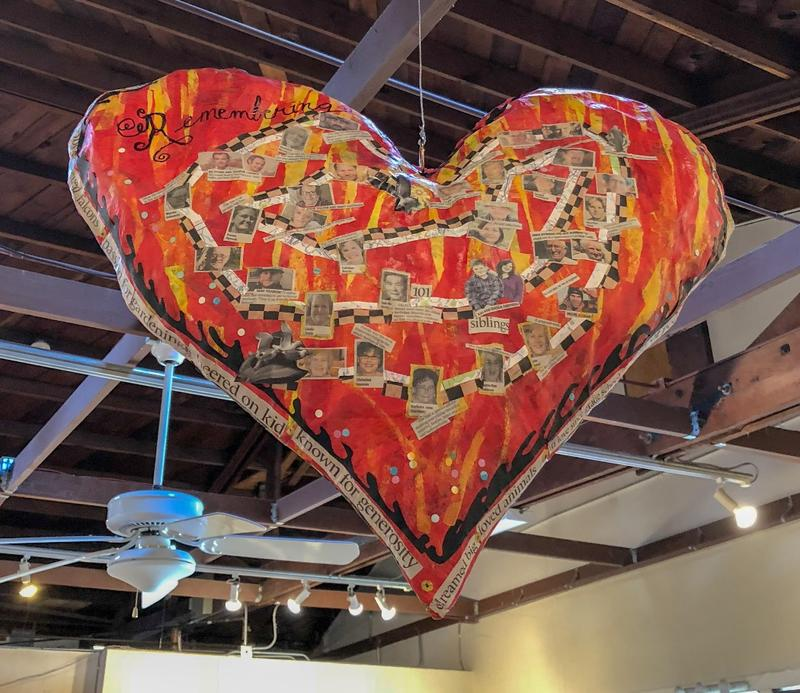 Fabric heart by Barbara Goodman