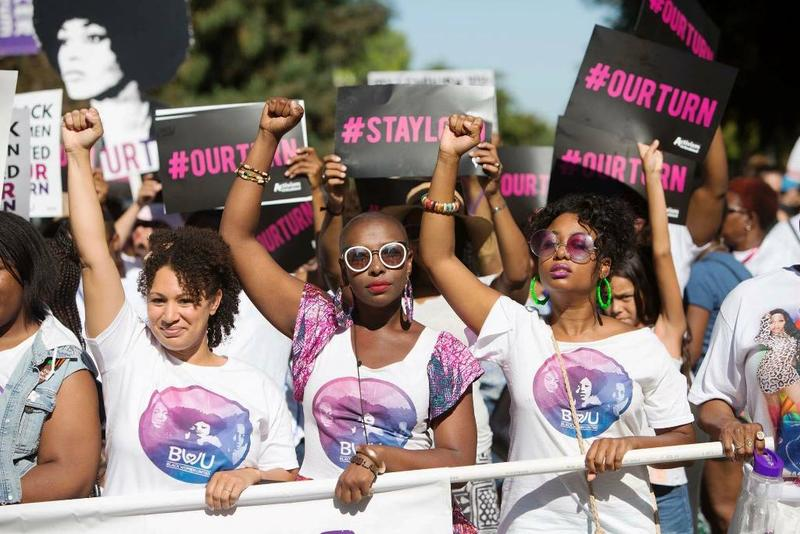 Black Women March in Sacramento in 2017