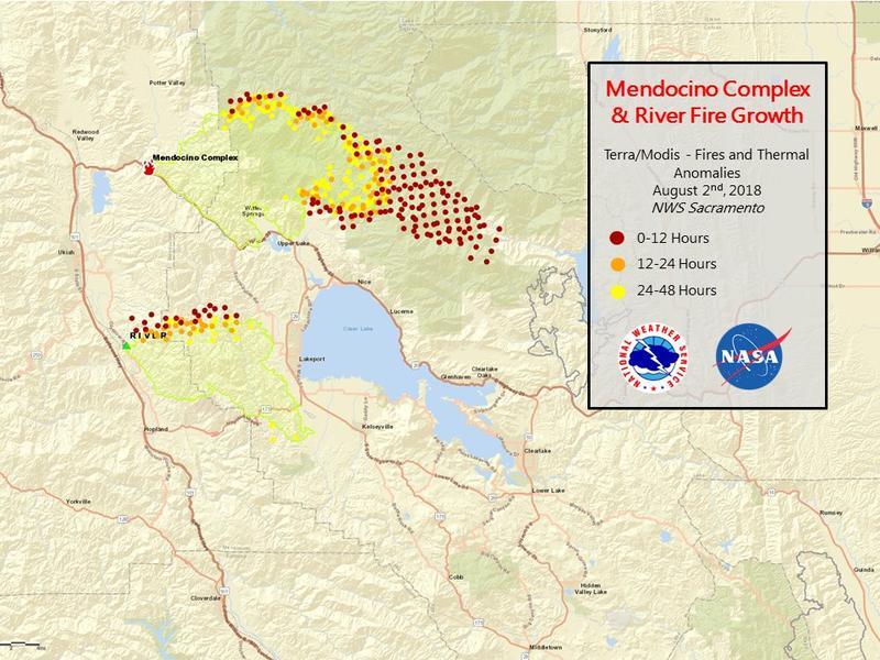 New Evacuation Orders In Mendocino Complex Fires Krcb