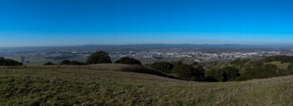 Looking westward from the new Taylor Mountain Regional Park