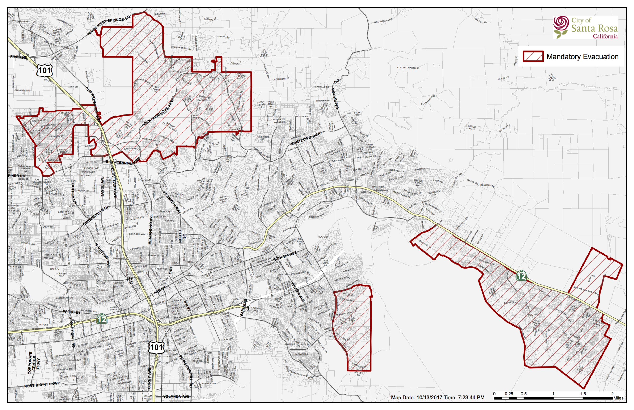 City Of Santa Rosa Emergency Information Updated 10 13 17 7 21 Pm