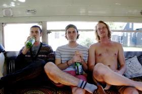 (from left) Nick Waggoner, Zac Ramras and Ben Sturgulewski