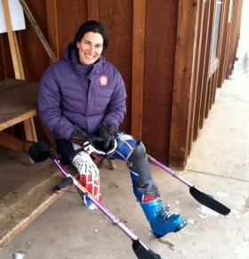 Alpine ski racer Melanie Schwartz is racing for the United States in Sochi. The Canadian native has duel citizenship and raced for Canada at the Vancouver Games. She trains in Aspen.