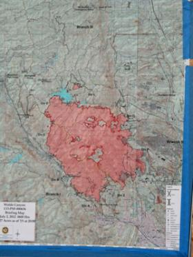Infrared mapping from 2012's Waldo Canyon fire.