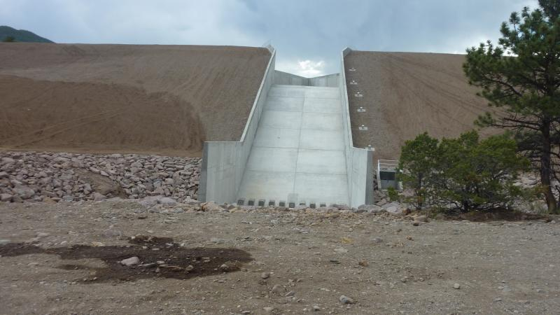 Terrace Reservior was able to contruct the needed spillway thanks to a collaboration with the Alamosa Riverkeepers. The reservior was able to access conservation dollars set aside to protect the Alamosa watershed, which helped pay for the new spillway.