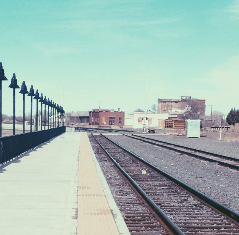 Tracks leading into Trinidad, Colorado