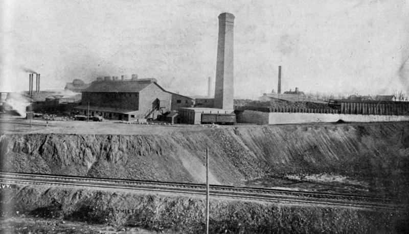 Historic photo of the Colorado Smelter in Pueblo. It's now a Superfund site.