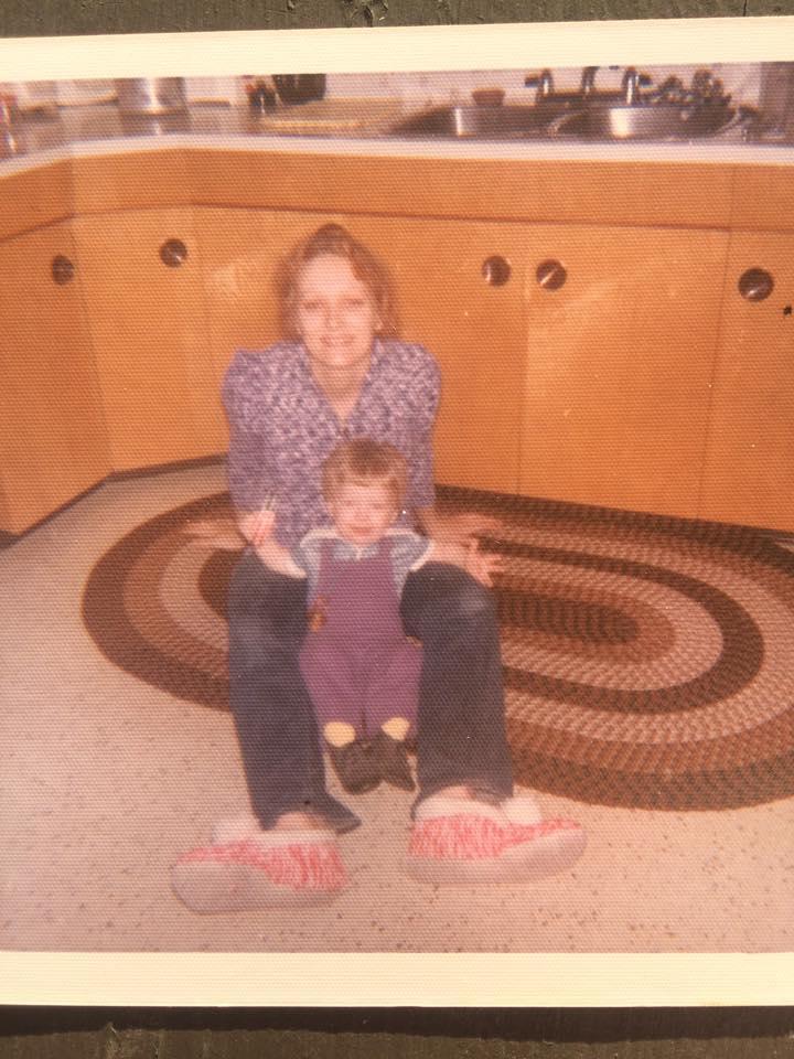 Calli Strommer and her mother, Marsha Spread, aka Michele Vanderwall ca. 1974