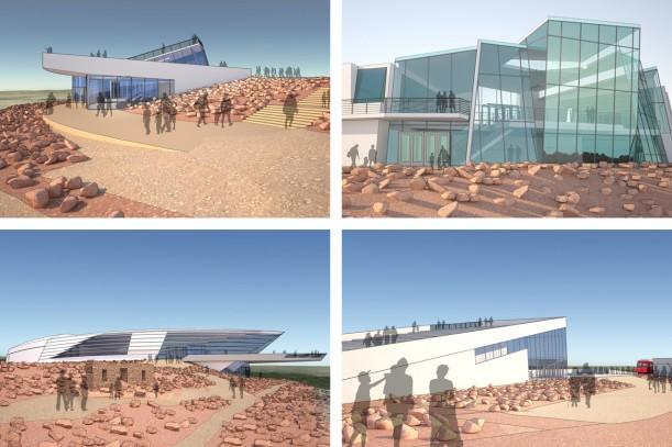 Illustrations of design concepts for the new Pikes Peak Summit Complex