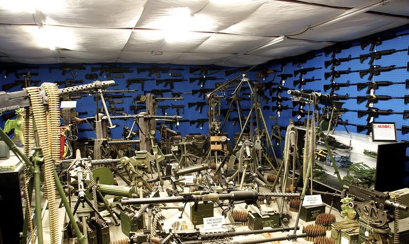 Some of Dragonman's machine gun collection