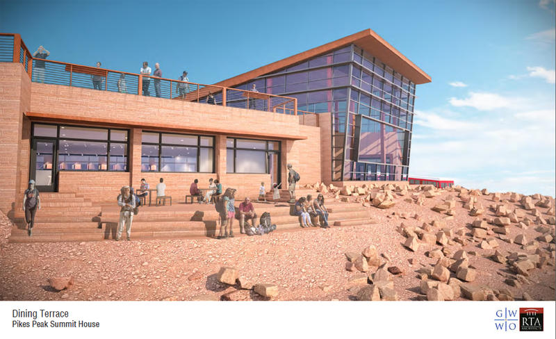 A rendering of the chosen design for the new Pikes Peak Summit House
