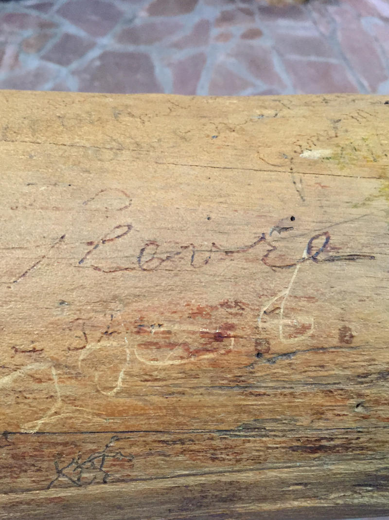 "Robert LeFevre's signature on the ""Liberty Log"""