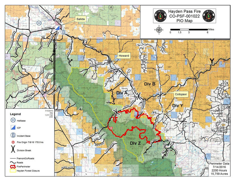 Large Incident Fire Map.Updates Haydenpassfire Krcc
