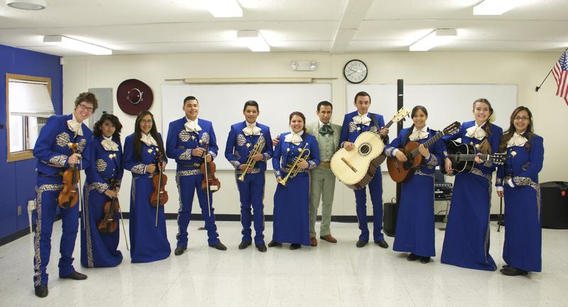 The Advanced Mariachi Ensemble at Chavez Huerta Preparatory Academy in Pueblo.